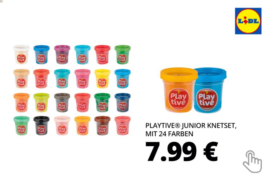 PLAYTIVE® JUNIOR Knetset, mit 24 Farben