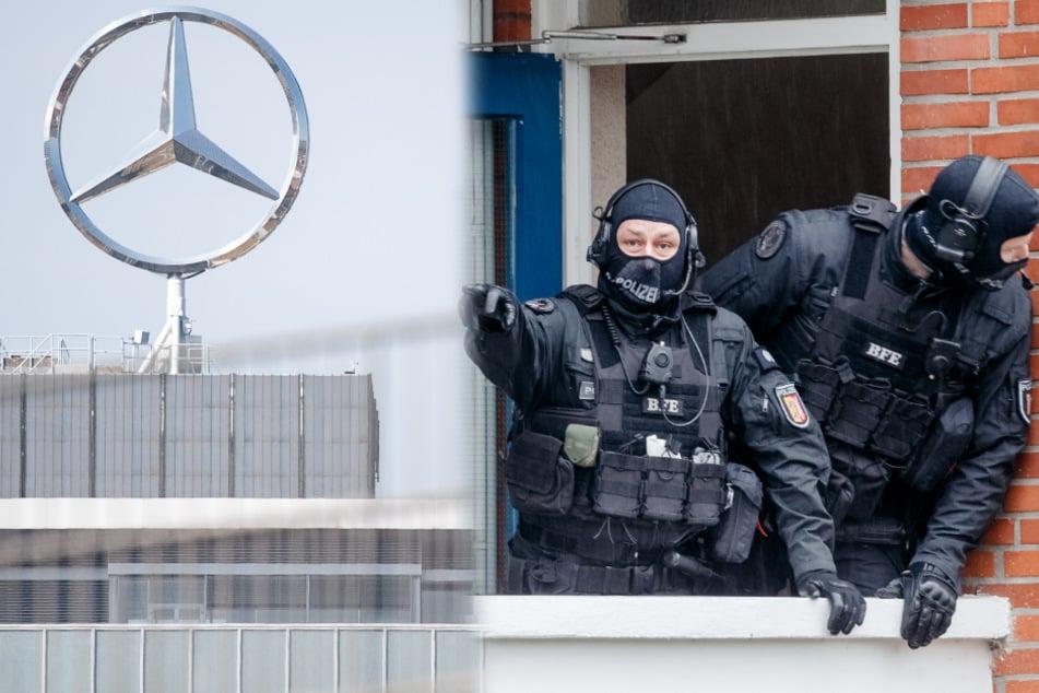 Spezialeinheit der Polizei nimmt mutmaßliche Daimler-Erpresser fest