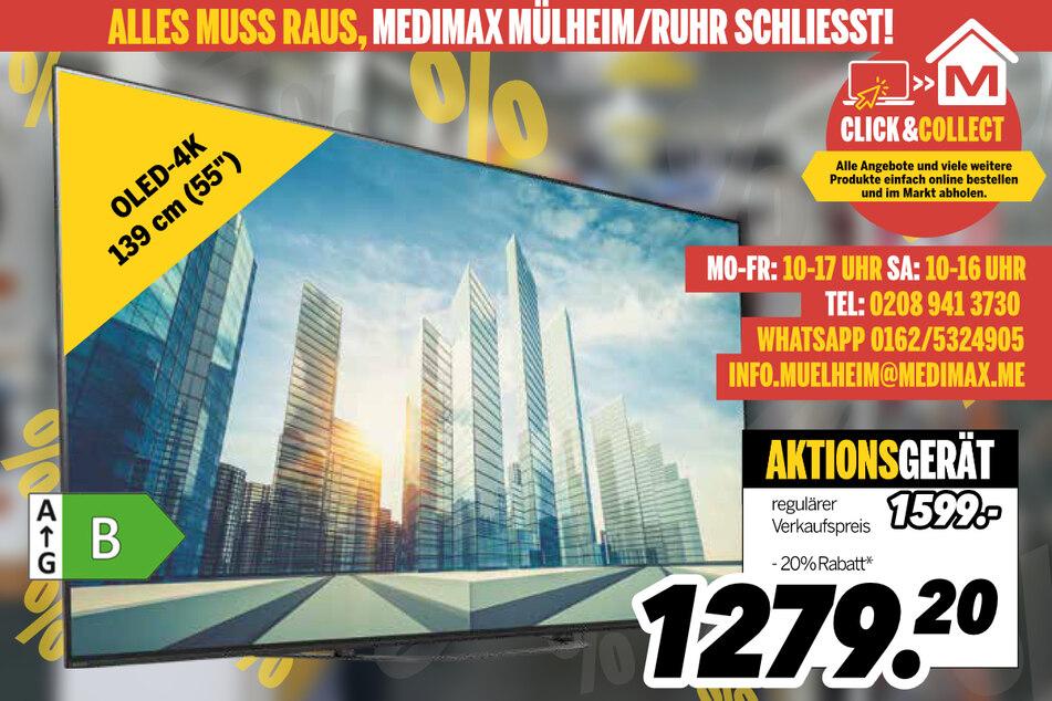 OLED-TV KD55AG8BAEP von Sony für 1.279,20 Euro