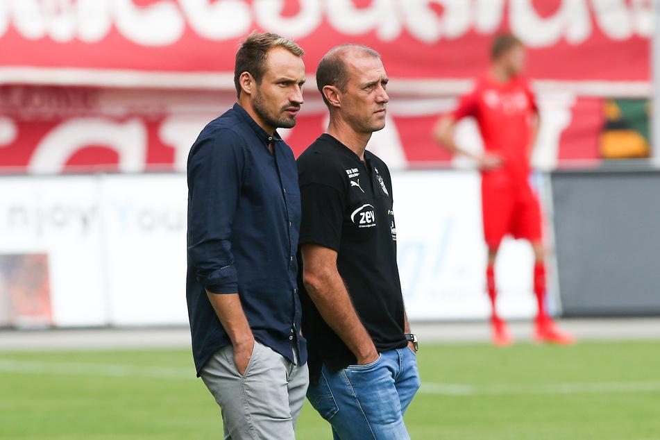 Abstiegskampf! FSV-Sportchef Toni Wachsmuth (l.) und Coach Joe Enochs steht eine schwere Zeit bevor.