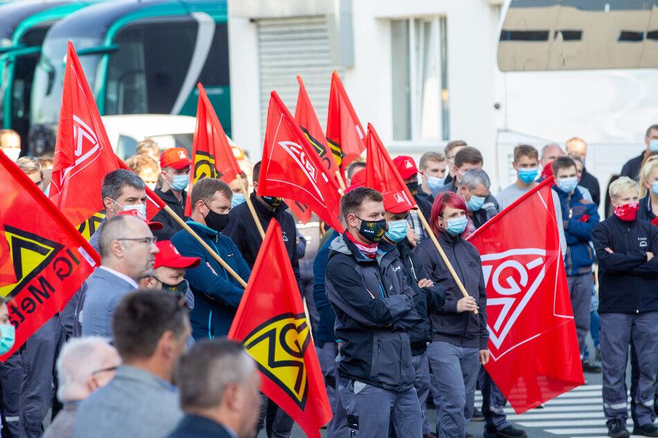Letztes Jahr gab es Proteste gegen den MAN-Rückzug. Doch die Angestellten des Plauener Werkes sollen alle übernommen werden.