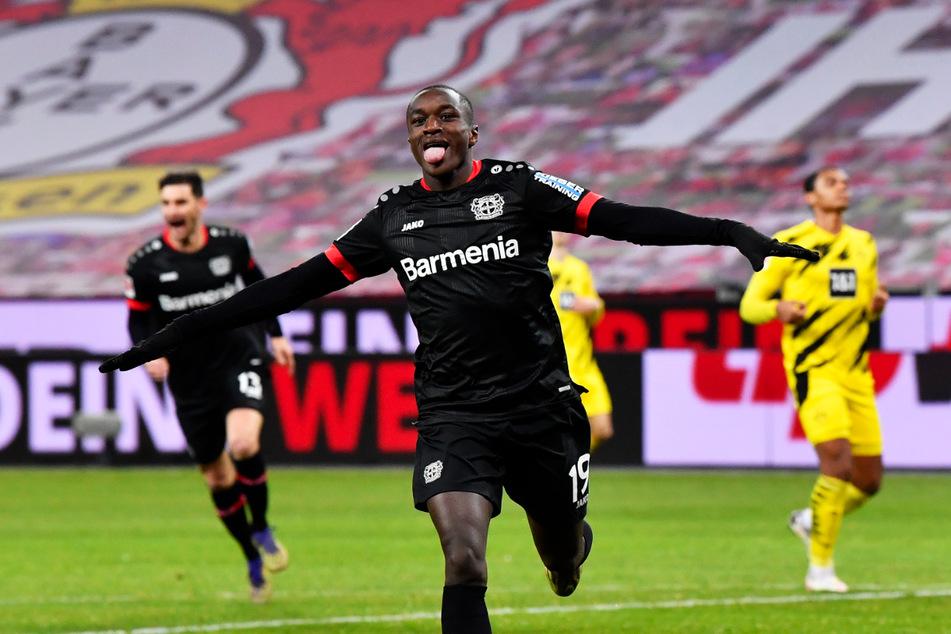 Moussa Diaby (21) hat in 74 Spielen für Bayer 04 Leverkusen 17 Tore erzielt und 20 direkte Vorlagen gegeben.