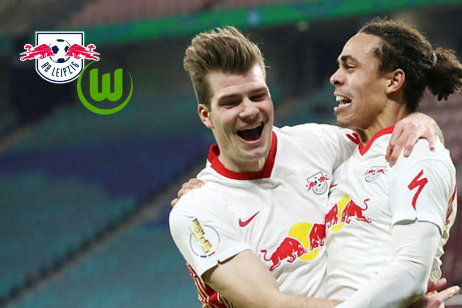 Poulsen, Hwang, Halbfinale! RB Leipzig wirft Wolfsburg aus Pokal und wahrt Titelchance