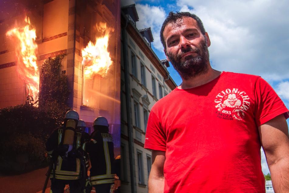 Der Held von Penig: Dieser Mann bewahrte zehn Menschen vor der Feuer-Hölle!