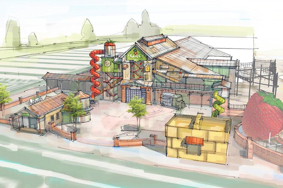 Erste Entwürfe zum Erscheinungsbild von Karls Erlebnis-Dorf gibt es schon.