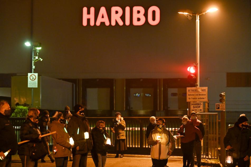Seit Wochen protestieren die Wilkauer Haribo-Mitarbeiter gegen die drohende Werksschließung.