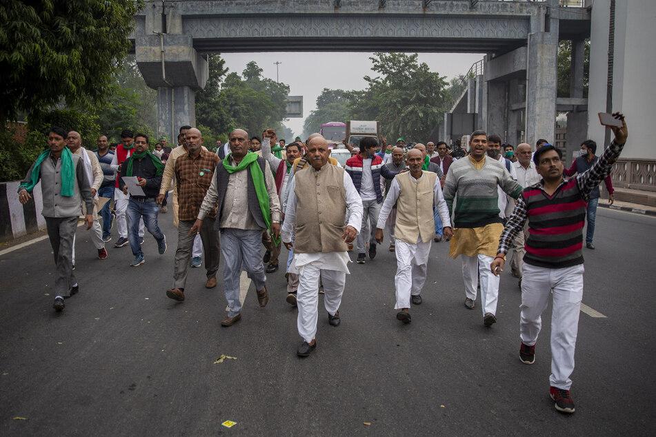Indische Bauern protestieren gegen die Deregulierung der Landwirtschaft.