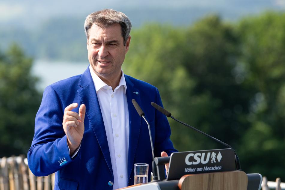 Markus Söder (54, CSU), Ministerpräsident von Bayern und CSU-Vorsitzender, gibt vor Beginn der Klausur des CSU-Vorstands ein Pressestatement.