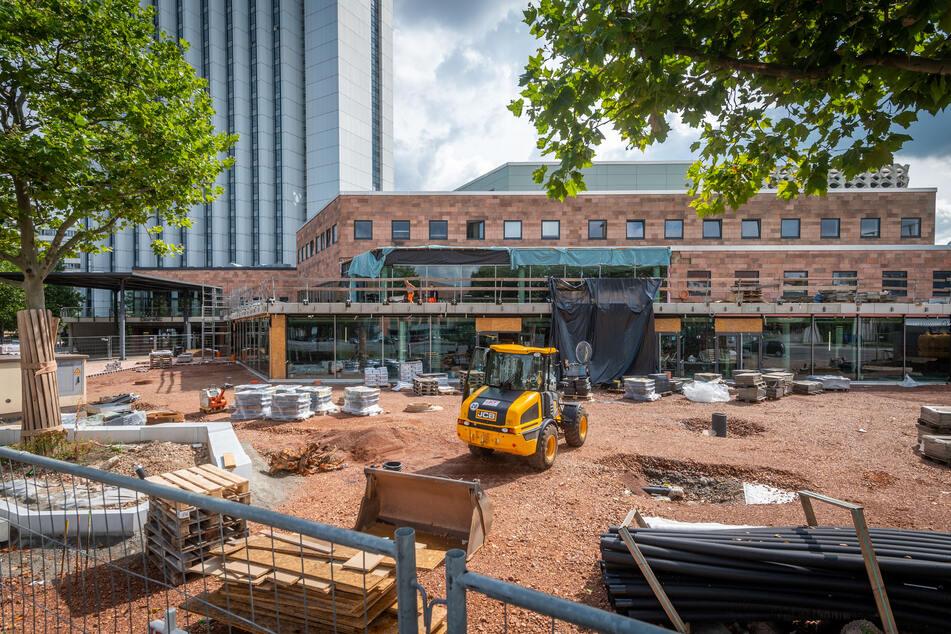 Die Bauarbeiten für das Carlowitz-Congresscenter befinden sich in der Endphase.