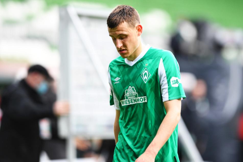 Werders Eigengewächs Maximilian Eggestein (24) verließ nach dem Abstieg in die 2. Bundesliga bedröppelt den Rasen.