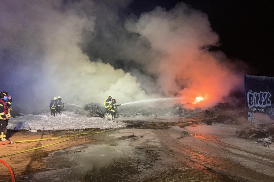 Rund 50 Feuerwehrleute waren in der Nacht auf Mittwoch im Einsatz.