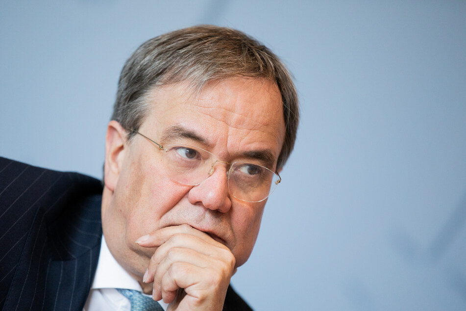Armin Laschet (CDU), Ministerpräsident von Nordrhein-Westfalen, spricht in der Landespressekonferenz im Landtag.