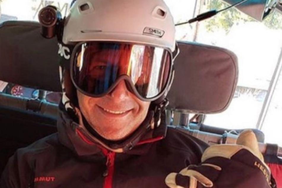 Gregg Garfield im Skiurlaub im Februar in Norditalien.