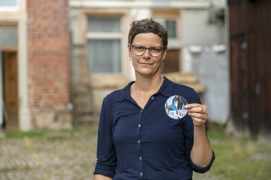 Die Künstlerin Svea Duwe (49) organisiert die Spiegel-Parade.
