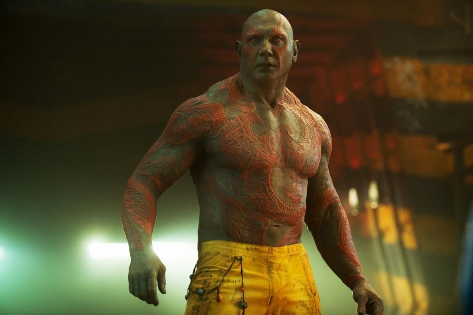 """Zu oft zu nackig? In """"Guardians of the Galaxy"""" sieht man Schauspieler Dave Bautista als Drax nur selten mit viel Bekleidung."""