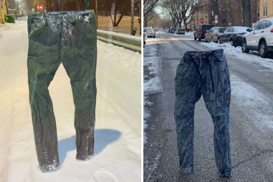 Polar pants: man freezes his pants on street for a hilarious reason