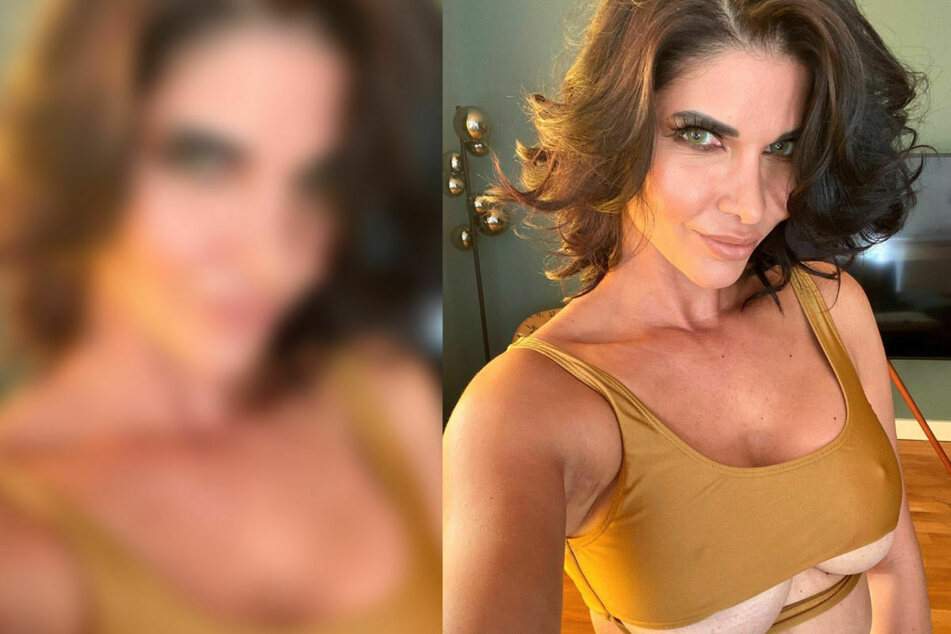 In diesem heißen Fotoshooting ist Sexbombe Micaela Schäfer wirklich zum Anbeißen