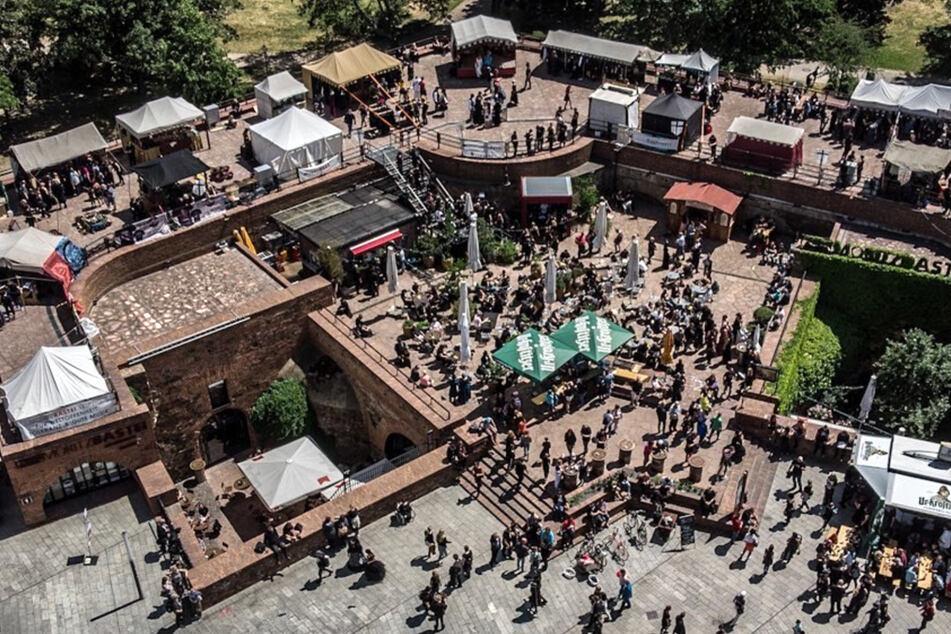 So voll ist die Moritzbastei normalerweise an den Pfingstwochenenden, wenn in Leipzig das WGT stattfindet.