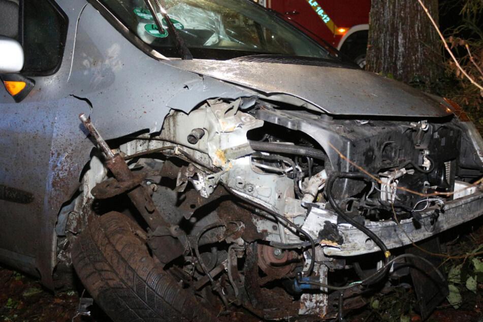 Auto rast gegen Baum: Frau schwer verletzt, doch Verursacher lässt sie einfach liegen
