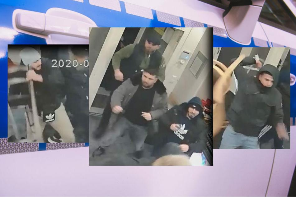 Mit Bildern aus Überwachungskameras erhofft sich die Polizei Berlin neue Hinweise auf die Tatverdächtigen, die am 2. Februar 2020 ein Café überfallen haben sollen.