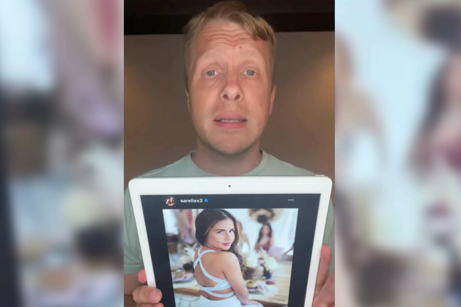 """Oliver Pocher (43) griff in seiner jüngsten """"Bildschirmkontrolle"""" Sarah Engels (ehemals Lombardi, 28) an und kritisierte sie für die angebliche Vermarktung ihrer Familie."""