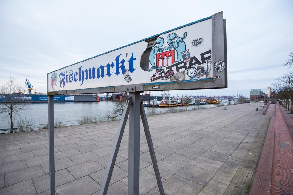 Der Fischmarkt ist am Sonntagmorgen menschenleer.