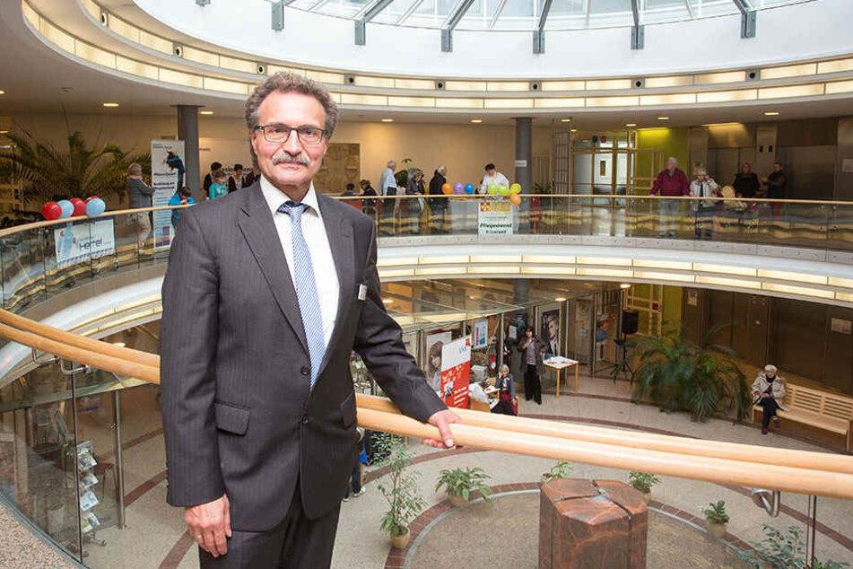 Stephan Lazarides (59), Geschäftsführer vom  DIAKOMED Krankenhaus Hartmannsdorf.