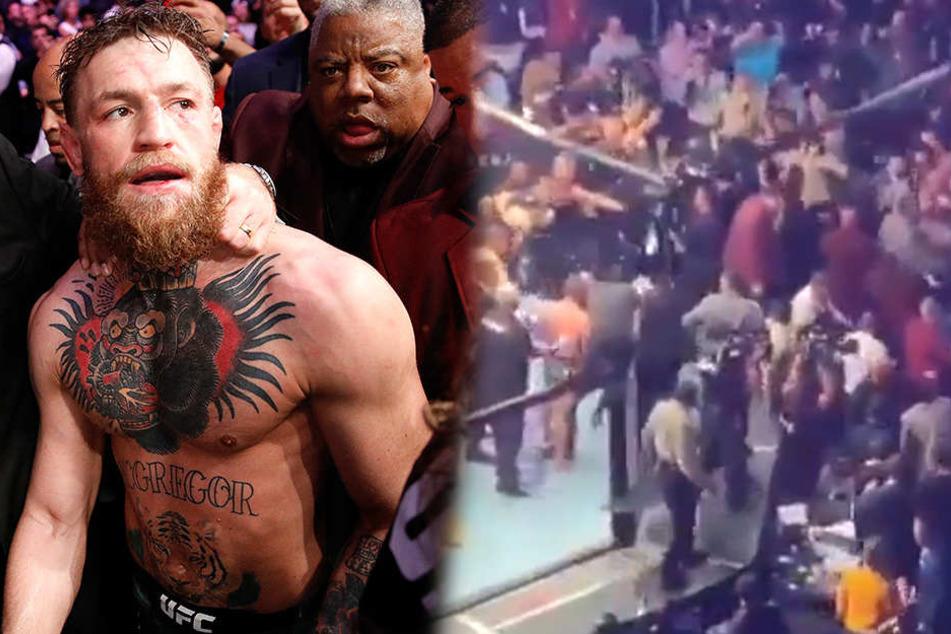 Skandal bei UFC-Kampf: McGregor-Comeback artet in Massenschlägerei aus