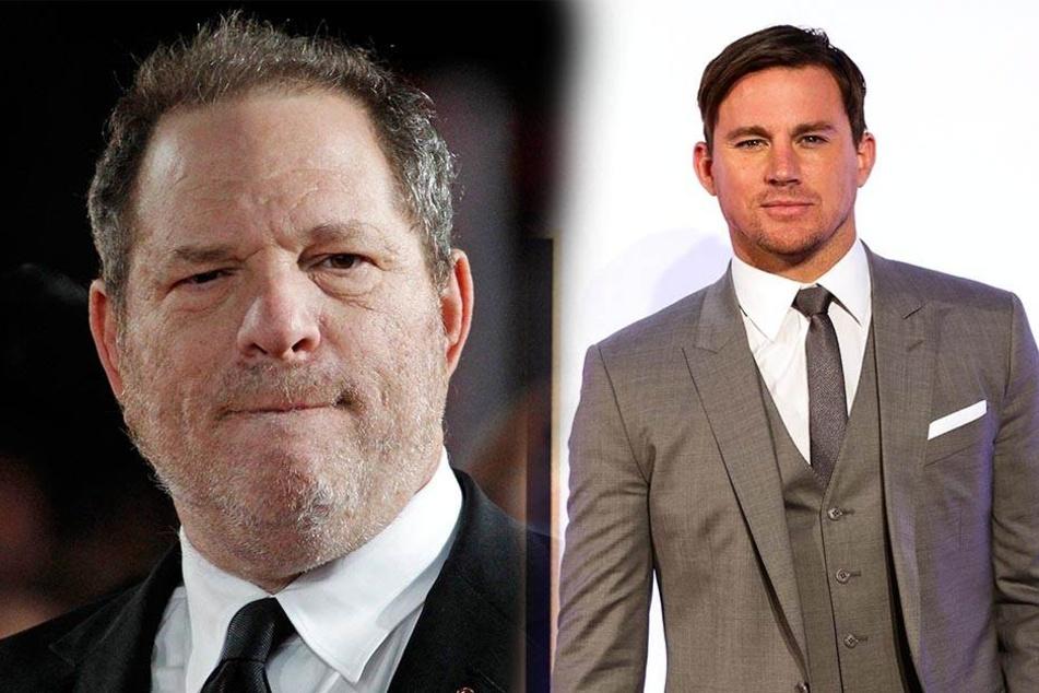Channing Tatum (r) möchte nicht mehr mit der Firma von Harvey Weinstein zusammenarbeiten.