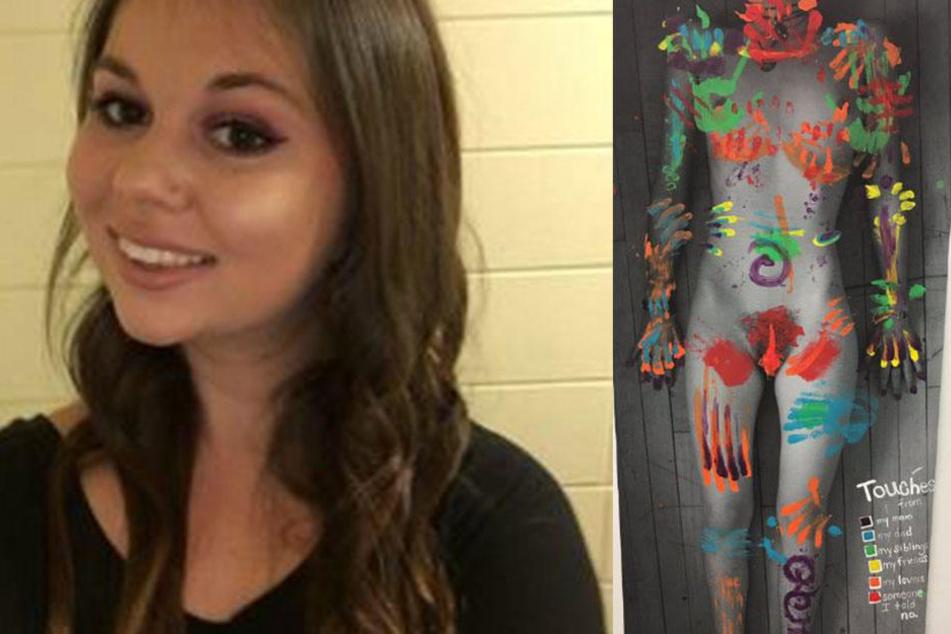 Studentin zeichnet emotionales Gemälde von sexueller Gewalt