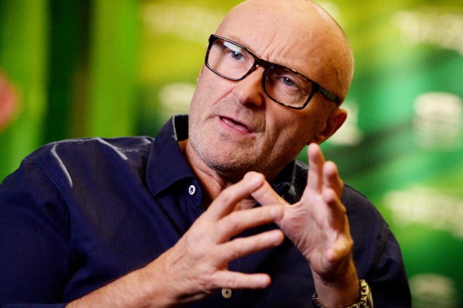Der Musiker Phil Collins bei einem Interview.