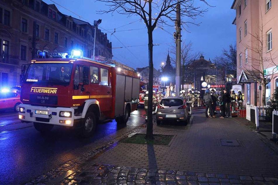 Die Feuerwehr im Einsatz.