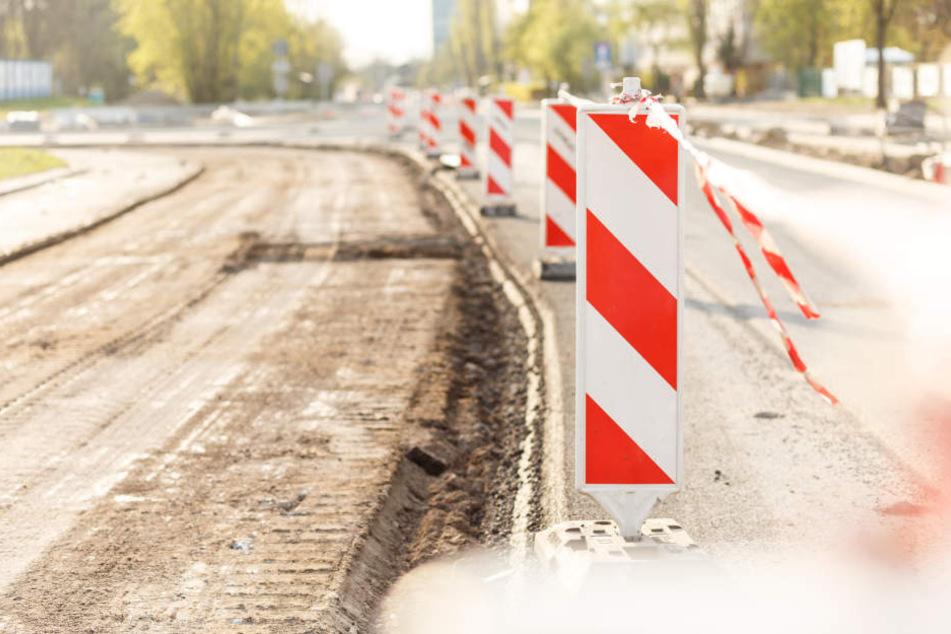 Die Stollberger Straße wird in den kommenden Wochen zur Baustelle. (Symbolbild)