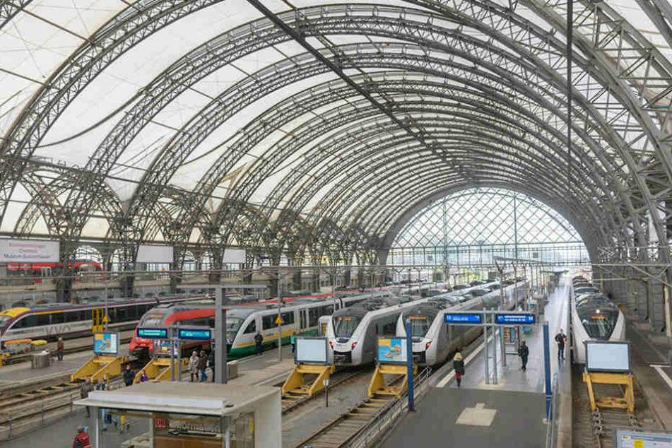 Vom Dresdner Hauptbahnhof nach Prag in unter einer Stunde - das ist das Ziel bis 2035.
