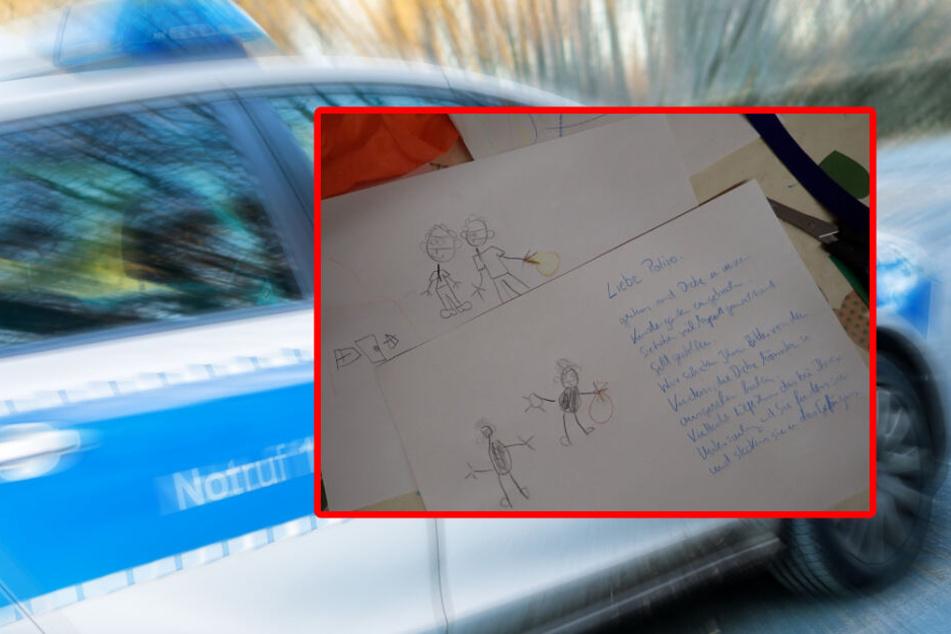 Süßer Brief nach Kita-Einbruch: Kinder malen Fantasie-Phantombilder, und die Polizei ist begeistert