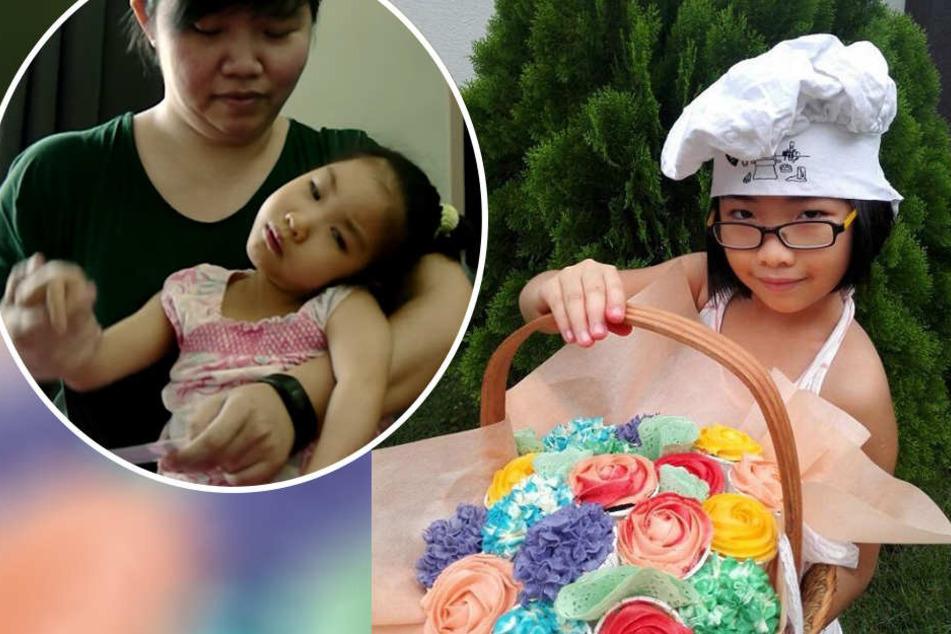 Siebenjährige bäckt, damit kranke Schwester behandelt werden kann