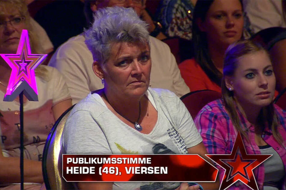 Publikumsstimme Heide überzeugte Dieter Bohlen mit einem Ja zu stimmen.