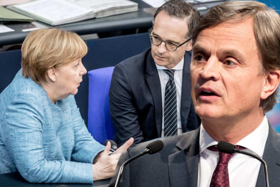 Flüchtlingsdebatte: AfD bezeichnet Merkels Regierung als Gefährder