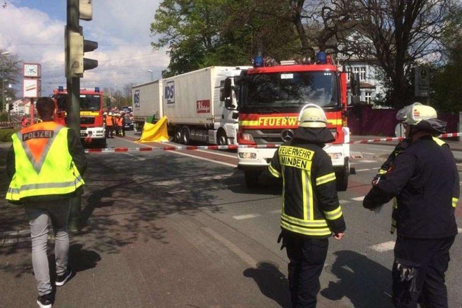 Die Beckhausstraße musste nach dem Unfall gesperrt werden.