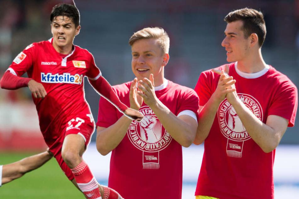 Erol Zejnullahu (l.), Lennard Maloney (m.) und Lennart Moser (r.) konnten in dieser Saison noch keinen Einsatz verbuchen.