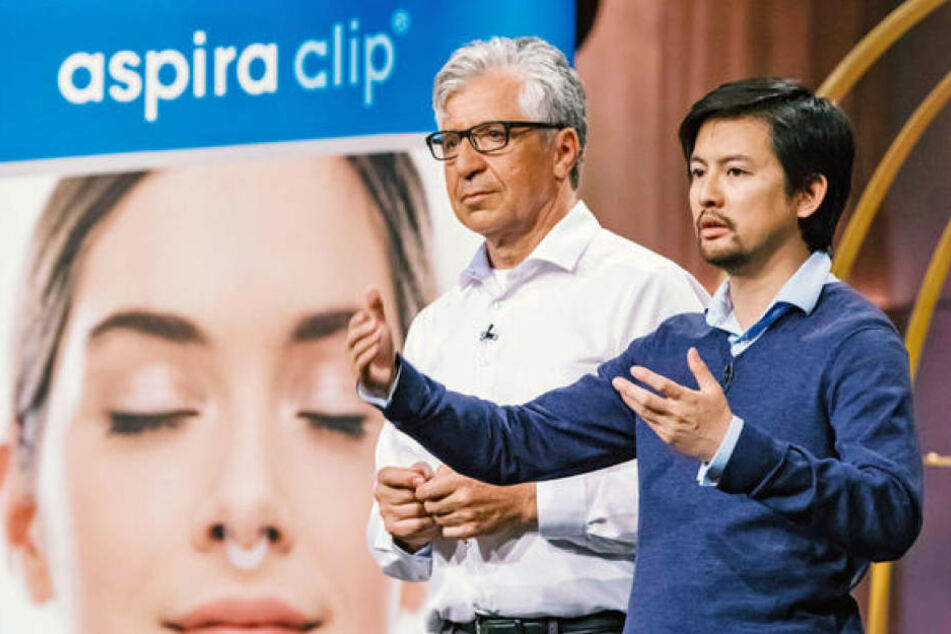 Vinh-Nghi Tiet (34) und Wolfgang Kleiner (56) präsentierten ihren Inhalator