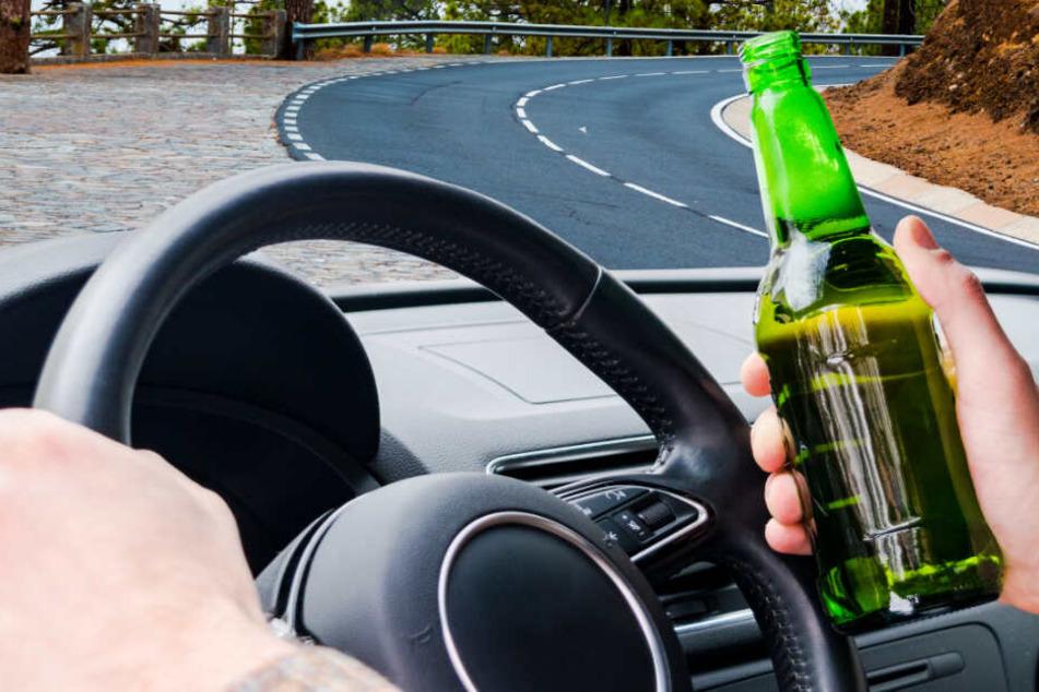 Bierflasche griffbereit: Autofahrer mit 1,35 Promille erwischt