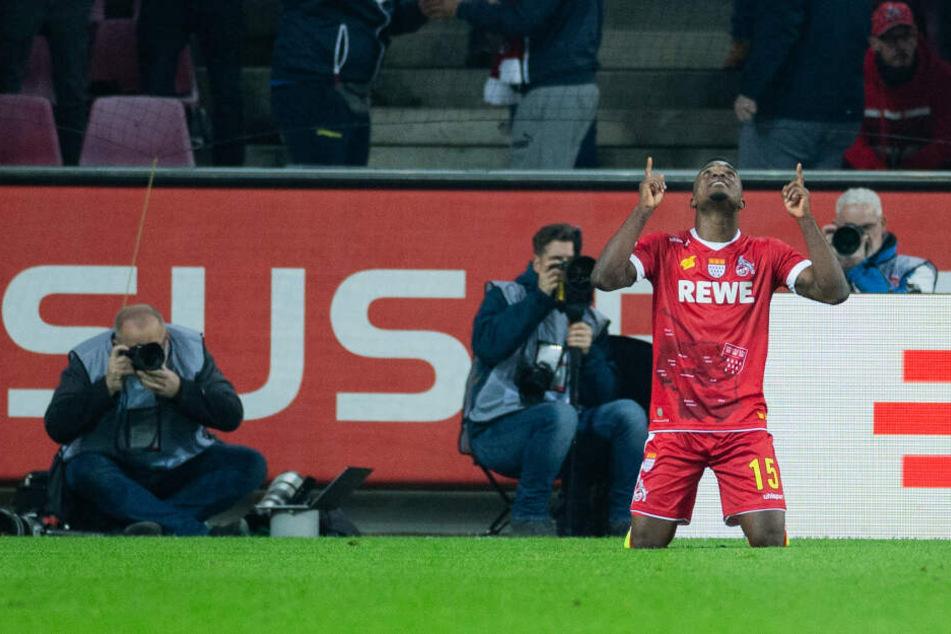 Jhon Cordoba brachte Köln mit seinem ersten Saisontor mit 1:0 in Führung (34.).