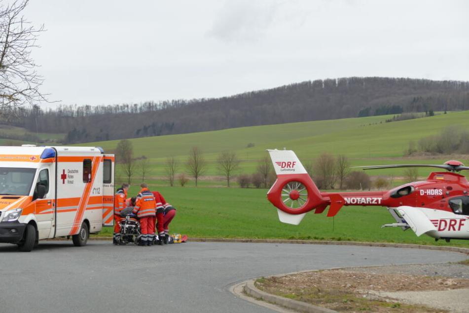 Ein Rettungshubschrauber war im Einsatz.