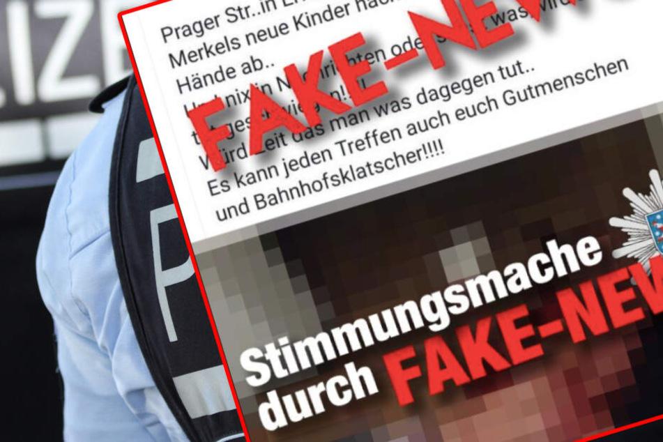 Die Polizei wies bei Twitter auf den Fake hin. (Bildmontage)