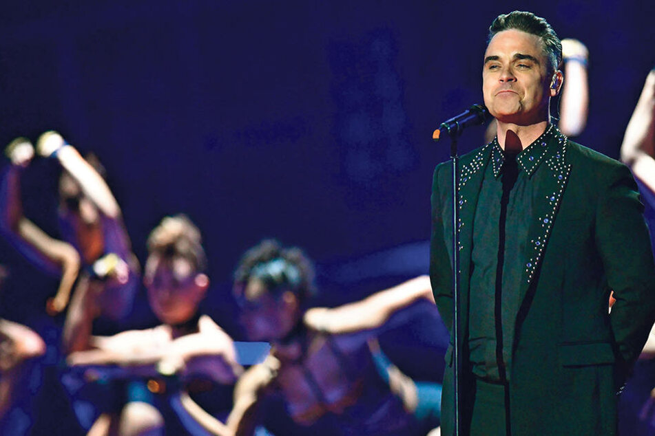 Robbie Williams (43) bei der  Verleihung der Brit-Awards im Februar in London.