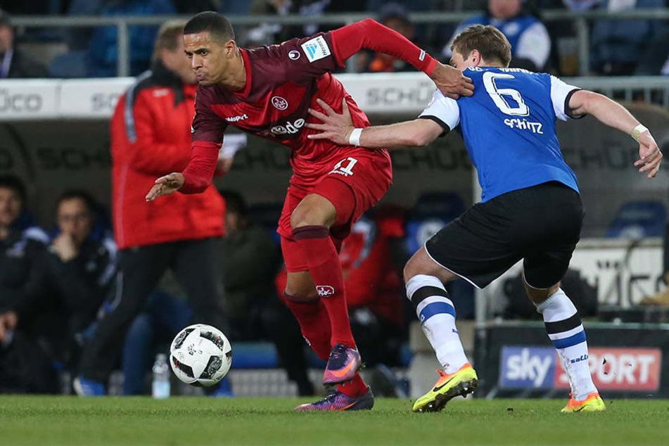 Nur selten kamen die Lautern-Spieler an den Bielefeldern vorbei.