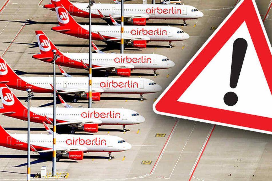 Am 12.09.2017 fielen 100 der geplanten 750 Flüge nach einem ersten Gläubigerausschuss aus. (Bildmontage)