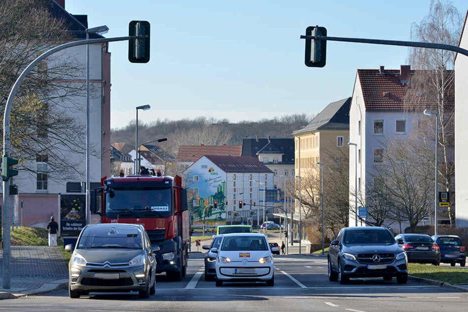 Die Ritterstraße: Hier endet von März bis Mai die stadtwärtige Umleitung - abbiegen nur nach links.