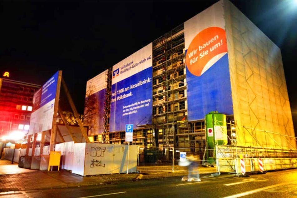 Hier entsteht die neue Volksbank-Zentrale in Bielefeld.